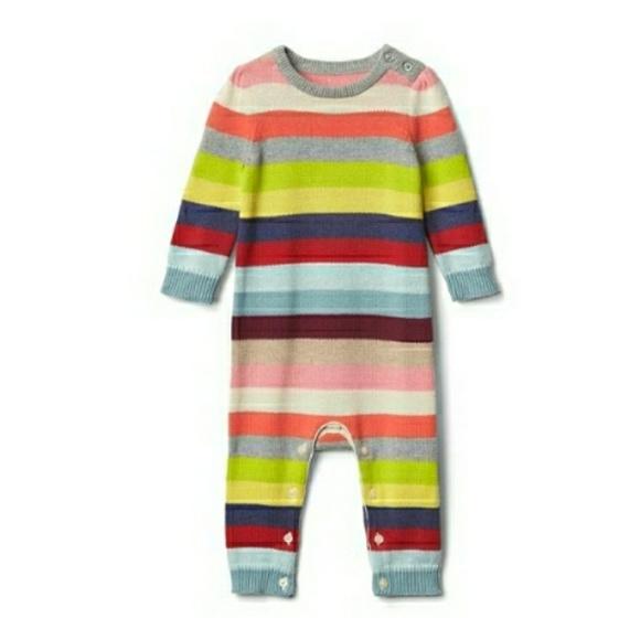 1b1cd810b GAP One Pieces | Baby Rainbow Striped Wool Onesie | Poshmark